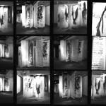 Contact de plusieurs vue de l'installation Dieux sont ici nulle part, 1996, médiums mixtes